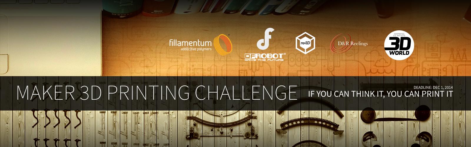 Maker 3D Printing Challenge