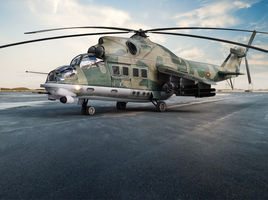 Mi 24 helicopter