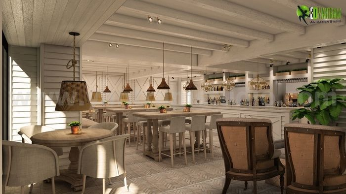 Awesome Bar & Restaurant Design Ideas by Yantram architectural ...