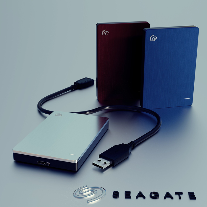 Seagate Backup Plus Slim 3D Model