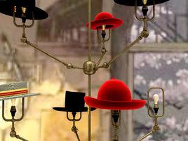 Steam Punk Hat Chandelier