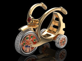 Fashion ring childrens bicycle