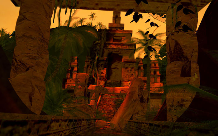 Temple in jungle.