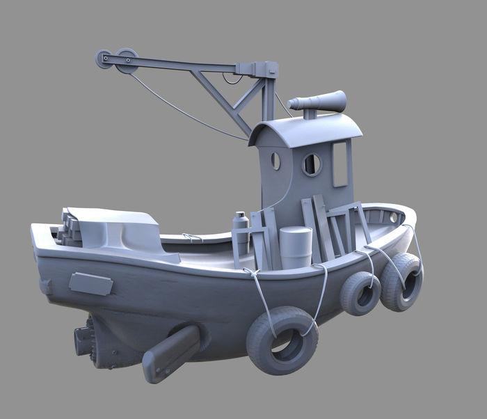 3D Flying Boat Model