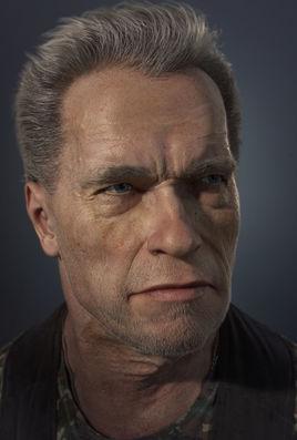 3D  portrait Arnold