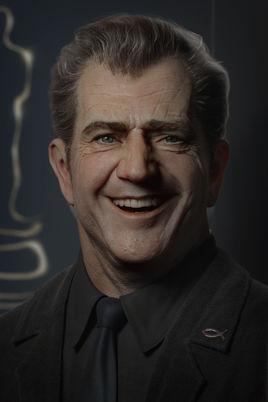Mel Gibson CG portrait