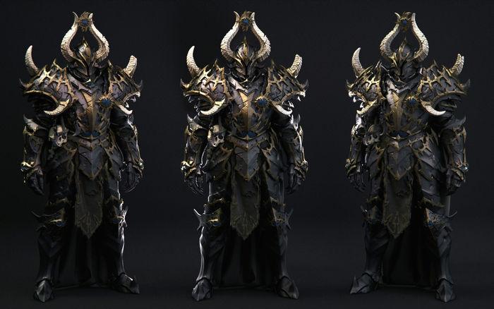 Warhammer Chaos Warrior Wip By Charles Lim Cgtrader