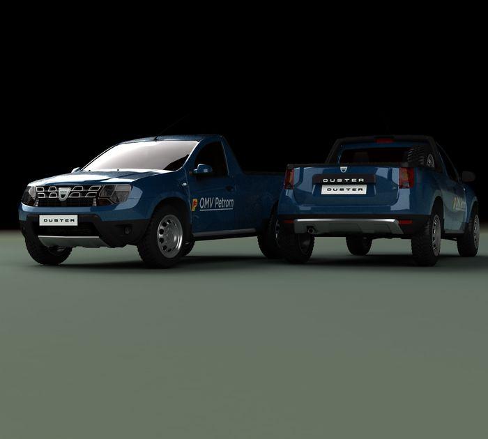 Dacia duster pick-up concept petrom romanian