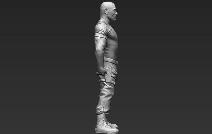 Dwayne The Rock Johnson for 3D printing