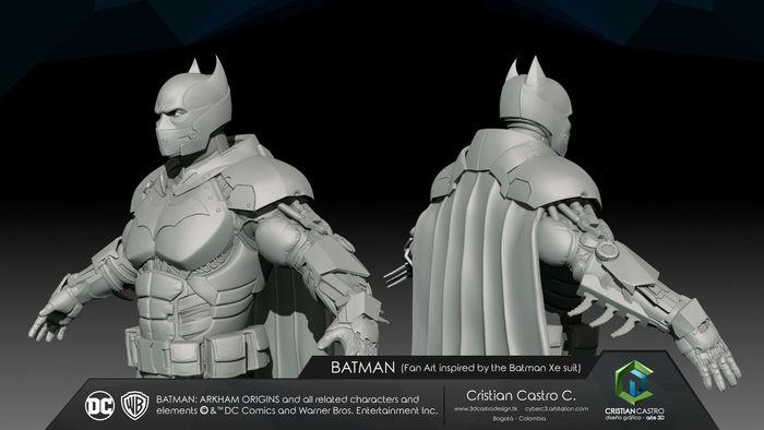 Batman Xe suit Fan Art