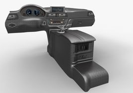 BMW 3 Series M Sport Dashboard-Armrest Basic Model