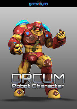 3D Orcum Robot Character Modeling