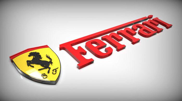 Ferrari Logo Cgtrader