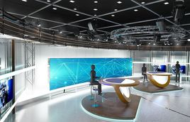 3D Virtual TV Studio News Set 3