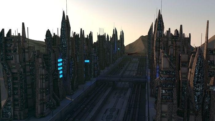 SCI FI FUTURISTIC CITY Package