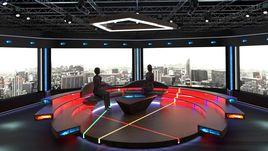 Virtual TV Studio Chat Set