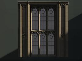 WINDOW arch set gothic trefoil 5 pane
