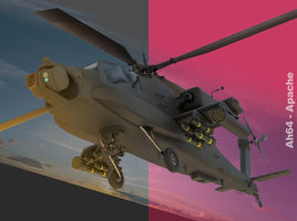 AH 64 Apache Helicopter