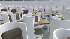 Now on sale Airbus A350 - 900 With Cockpit and full Cabin Interior 3D model