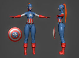 Captain America Lady