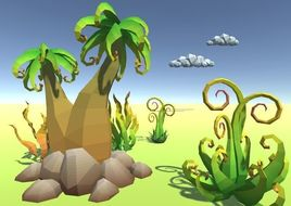 LowPoly Alien Plants Pack