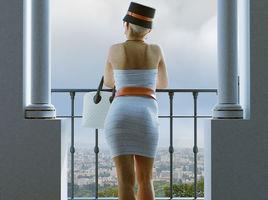 Woman Looking