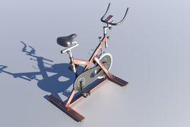 Stationary Spinning Bike 3D Model