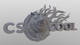 3D logo CS.cool