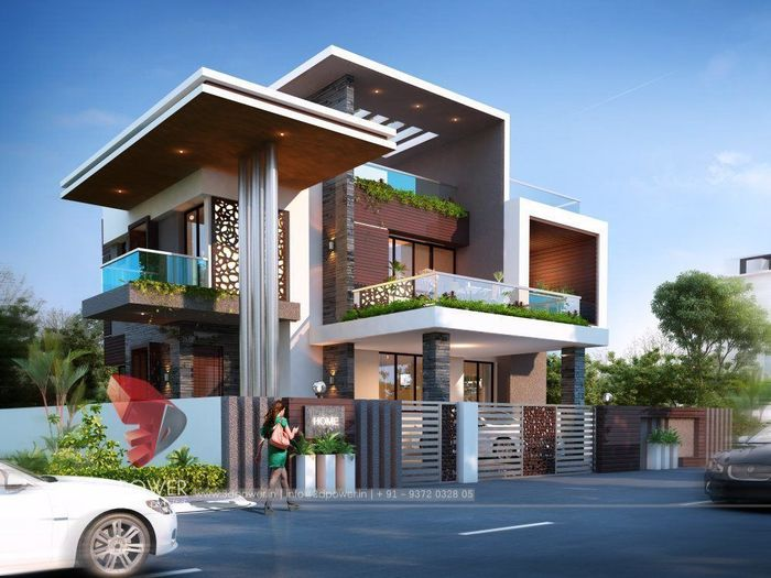 3D Exterior Design Rendering OF A Bungalow | CGTrader