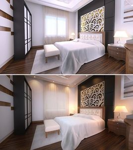 Architectural Interior 3D Visualization Services Miami, Florida for Modern Bedroom