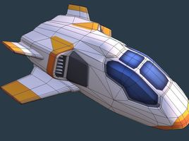 SciFi Space Speeder - Shuttle - for Mobile and RTS gamse
