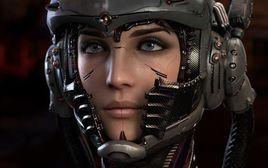 FEMALE HEAD ROBOT