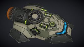 Sci-fi Space Gunboat / Scout Ship / for space game