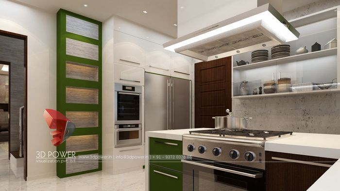 3d Interior Rendering Of Kitchen Interiors Cgtrader