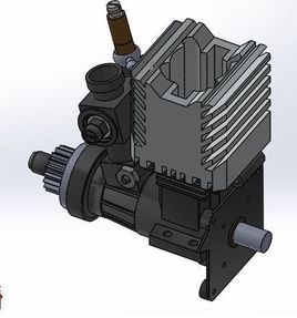 Engine made by Solidworks