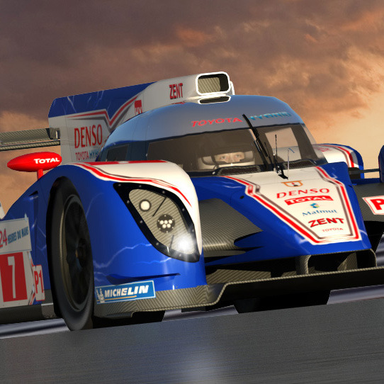 Lemans sunset with Toyota TS030.