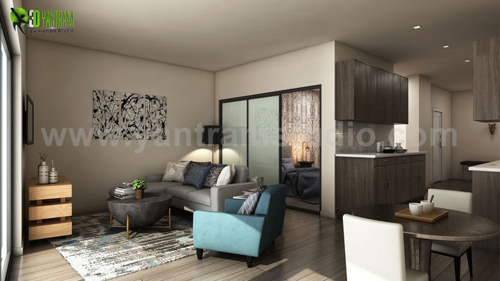 Exceptional Latest Apartment With 3D Interior Modeling Ideas By Yantram 3D Interior  Rendering Services, Miami