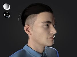 mid poly face render