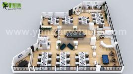 3D Office Virtual Floor Plan Design ideas by Yantram Architectural Animation Studio, Amsterdam - Netherland