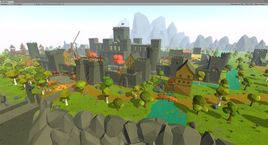 Low Poly Medieval world