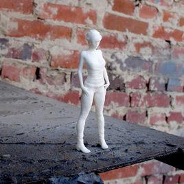 3D print of a sad girl