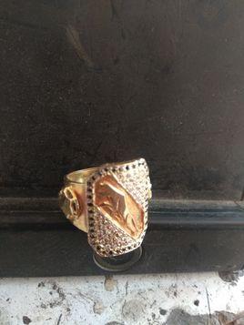 Leopard Gold Ring 4 Mens