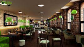 Conceptual 3D Interior Modern Cafe & Restaurant Design by Yantram Architectural Modeling Firm, London - UK
