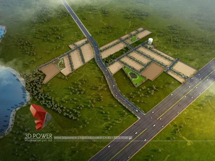 3D Architectural Visualization Of The Plotting Project