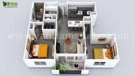 Luxuries 3D Home Floor Plan Design by Yantram 3D Virtual Floor Plan Design, Vegas - USA
