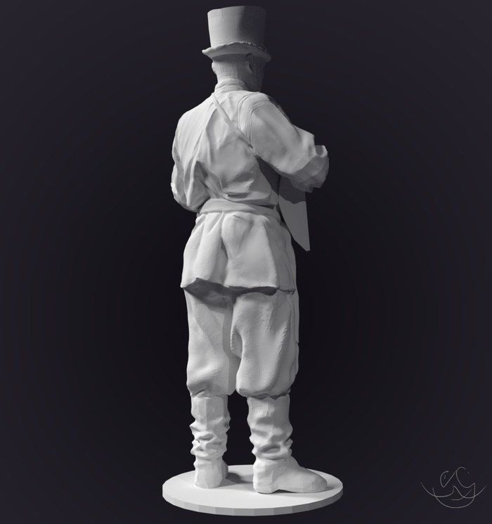 Ensemble - part 1, low poly model for 3d print