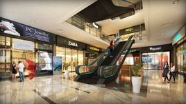 Architectural 3D Rendering Of Shopping Mall