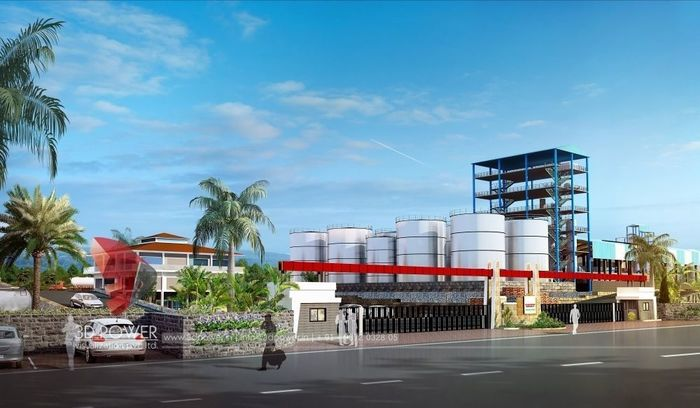 Sugar Factory-Total 3D Rendering for Industrial Project