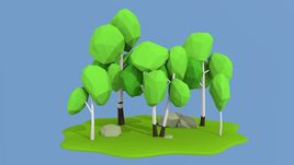 Lowpoly nature collection
