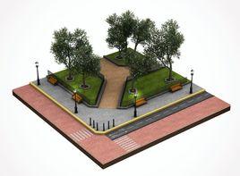 Pavement tile sample